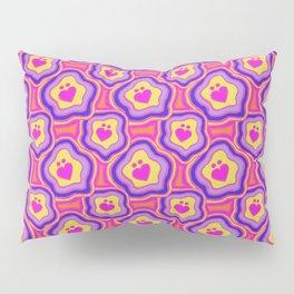 'I Love You Umlaut' Valentine's Pattern - Neon & Bright Pillow Sham