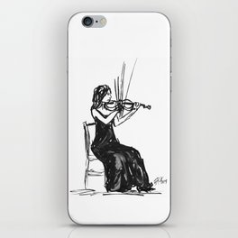 Playing the violin iPhone Skin