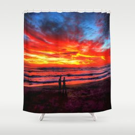Flaming Sky * Costa Rica Shower Curtain