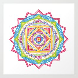 A Colourful Harmony #1 Art Print