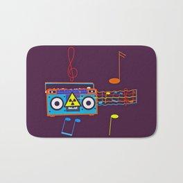 Radio Active musical waves Bath Mat