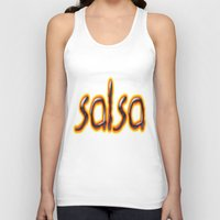 marc Tank Tops featuring Salsa Marc On Fire by Salsa Republic