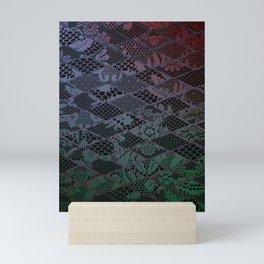 dark lace Mini Art Print