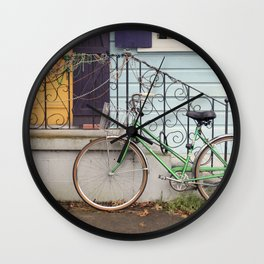 New Orleans Mardi Gras Bicycle Wall Clock