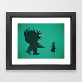 Big Daddy & Lil Sis Framed Art Print