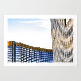 modern buildings with blue at Las Vegas, USA Art Print