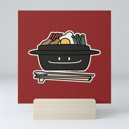 Bibimbap Korean rice bowl namul vegetables egg Mini Art Print