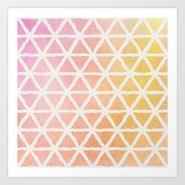 Watercolor Geometric Pattern 2 Art Print