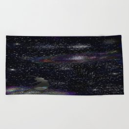 This Life Is Beautiful, With the Colors of The Universe Beach Towel