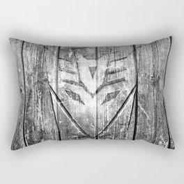 Decepticon Monochrome Wood Texture Rectangular Pillow