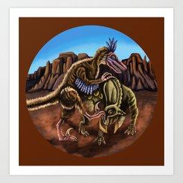 Raptor Struggle 2 Art Print