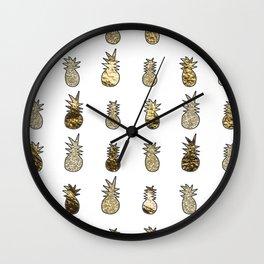 Gold pineapple pop Wall Clock