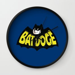 BatDoge (Shibe Doge) Wall Clock