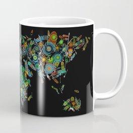 world map feathers mandala Coffee Mug