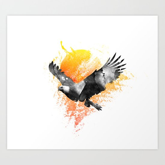 The Eagle that touched the Sun Art Print