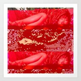 hot summer glitch Art Print