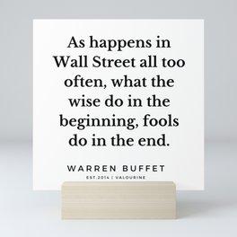 55   Warren Buffett Quotes   190823 Mini Art Print