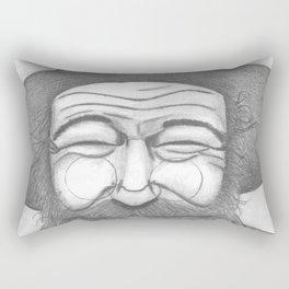 Bearded Man in Hat Rectangular Pillow