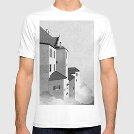 Castle in the Sky | Black & White T-shirt
