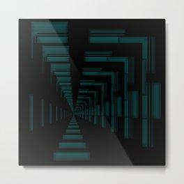 Teal Passage Metal Print