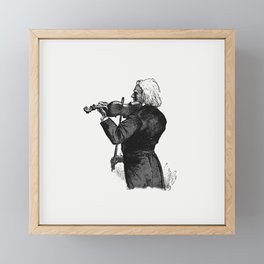 Fiddler from The Viking Bodleys An Excursion Into Norway And Denmark WIth Illustrations Framed Mini Art Print