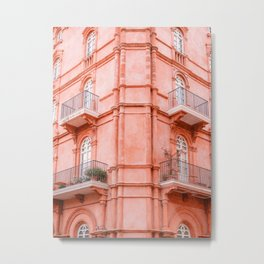 Shades of Coral   Perugia Italy fine art print   Pastel colored Metal Print