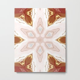 Southwestern Marble Sentient Clay Blossom Kaleidoscope Abstract Digital Painting Metal Print