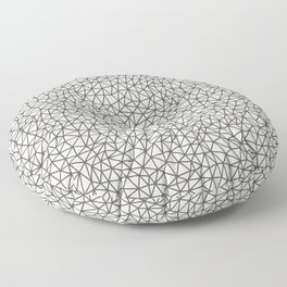 Brown and White Abstract Shape Pattern 2021 Color of the Year Urbane Bronze SW 7048 and Extra White Floor Pillow