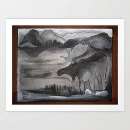 Moose Anishnabe Art Print