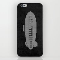 led zeppelin iPhone & iPod Skins featuring L.E.D. Zeppelin by jerbing