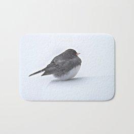 Brave Bird in a Blizzard Bath Mat