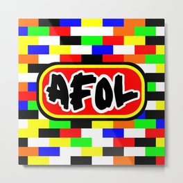 AFOL Metal Print