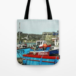 Coverack Boats Tote Bag