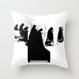 Piano Procession Throw Pillow