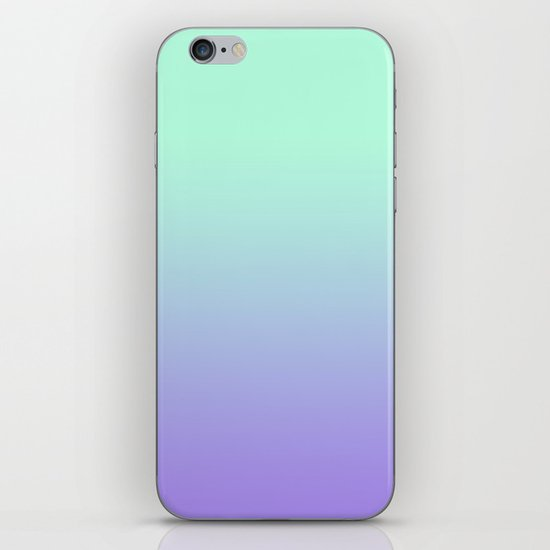 MINT/PURPLE FADE iPhone & iPod Skin