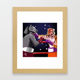 Jarred In The Jungle Framed Art Print