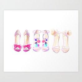 Shoes no 1 Art Print