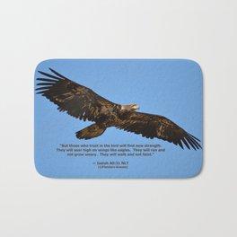 Soaring High!  -  Immature Bald_Eagle Bath Mat