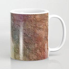 Colorful Earth Tones Brown Blue Abstract Coffee Mug