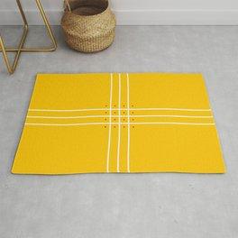 Fine Lined Cross on Yellow Rug