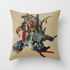 Self-digestion as a means of survival Throw Pillow