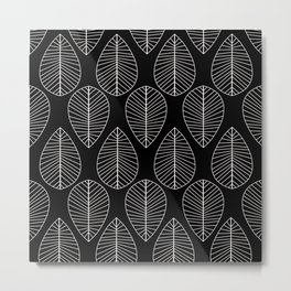 White Leaf Metal Print