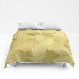 Custard Bubble Dot Color Accent  Comforters
