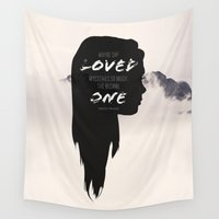 paper towns Wall Tapestries featuring Paper Towns: Maybe she loved mysteries so much by karifree