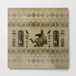 Egyptian Anubis Ornament Metal Print