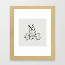 Corgi Lift Framed Art Print