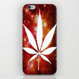 Weed : High Times Orange Red Pink Galaxy iPhone Skin