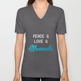 Musical Peace Love | Theater Gift Drama Acting Art Unisex V-Neck