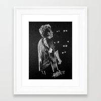 niall Framed Art Prints featuring Niall by Drawpassionn