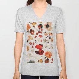 Mushroom Botanical Pattern Unisex V-Neck